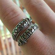 Кольцо с драконами и рунами старшего Футарка фото 5