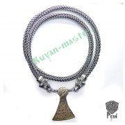 Серебрянная цепь «Медведи» богатырская (плетение Викинг) фото 2
