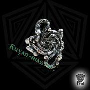 Кольцо зооморфное свастичное с головой грифа и дракона фото 5