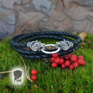 Гайтан шнур «Медведи» из натуральной кожи