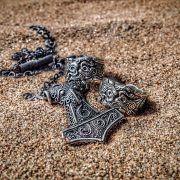 Серебряное кольцо «Волки Одина» фото 8
