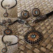 Серьги «Змеевики» с камнем фото 3