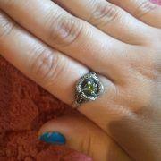 Кольцо «Змеевик» с камнем фото 5