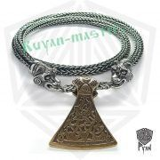 Серебрянная цепь «Медведи» богатырская (плетение Викинг) фото 1