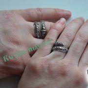 Кольцо с драконами и рунами старшего Футарка фото 2
