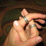 Обручальные кольца «Обережное» из серебра фото 3