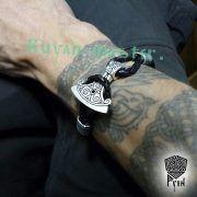 Браслет «Сила Перуна» из натуральной кожи фото 2