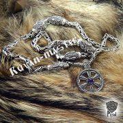 Серебрянная цепь «Волки» богатырская фото 4