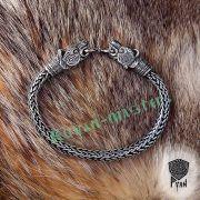 Браслет «Волки» викинг плетение фото 6