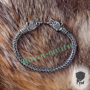 """Браслет """"Медведи"""" викинг плетение"""