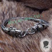 Браслет «Волки» викинг плетение фото 9