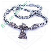 Серебрянная цепь «Волки» богатырская фото 2