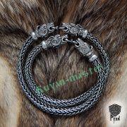 Браслет «Волки» викинг плетение фото 8