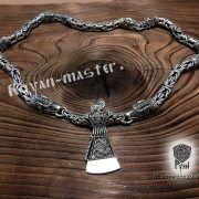 Серебрянная цепь «Волки» богатырская фото 3