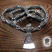 Серебрянная цепь «Волки» богатырская фото 1
