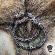 Браслет «Олени» викинг плетение фото 6