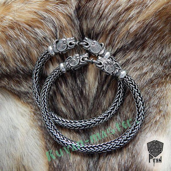 """Браслет """"Волки"""" викинг плетение фото 1"""