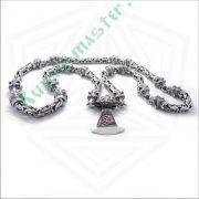 Серебрянная цепь «Волки» богатырская фото 5