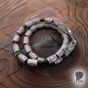 Кожаный браслет «ВОроны Одина» с рунами Старшего Футарка фото 4