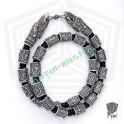 Кожаный браслет «ВОроны Одина» с рунами Старшего Футарка фото 5