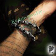 Кожаный браслет «ВОроны Одина» с рунами Старшего Футарка фото 6