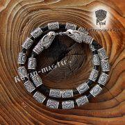 Кожаный браслет «Орлы» с рунами Старшего Футарка фото 2
