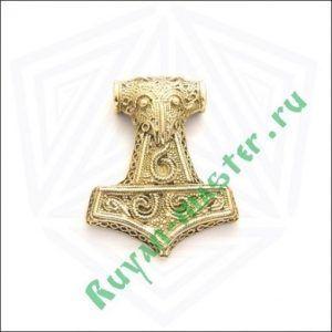 Молот Тора в золоте