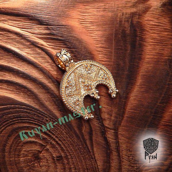 Лунница трехрогая зернёная фото 1