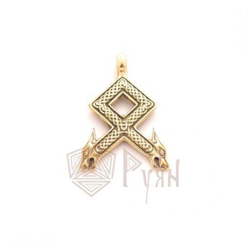 Руна Одал в золоте фото 1