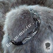 Кожаный браслет «вОроны» кусачие с 3-мя этно бусинами фото 4