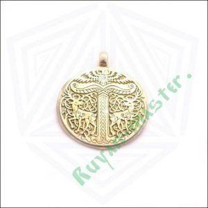 Золотая подвеска Дерево жизни Иггдрасиль