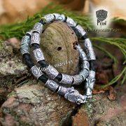 Кожаный браслет «Медведи» с бусинами Старшего Футарка фото 3
