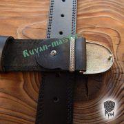 Ремень с пряжкой по мотивам скандинавской фибулы фото 2