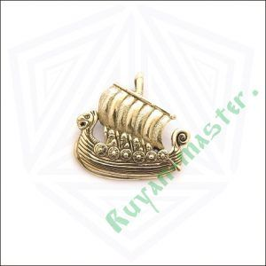 Золотая подвеска «Драккар викингов»