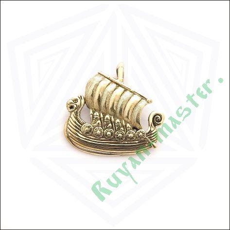 Золотая подвеска «Драккар викингов» фото 1
