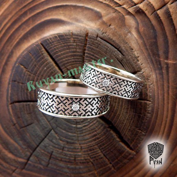 кольца обережные-золото брилл-логоз