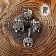 Кольцо-оберег «Лунница зерненая» фото 4