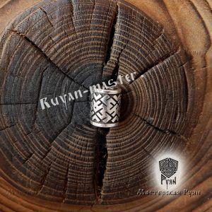 Серебряная бусина Цветок Папоротника для браслета, бороды