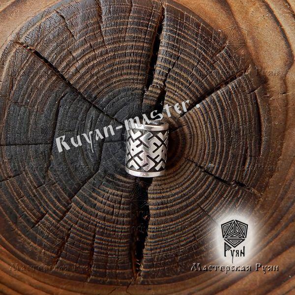 Серебряная бусина Цветок Папоротника для браслета, бороды фото 1