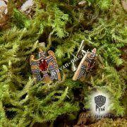Серьги «Огненный сокол Рарог» фото 4