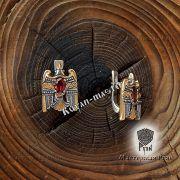Серьги «Огненный сокол Рарог» фото 2
