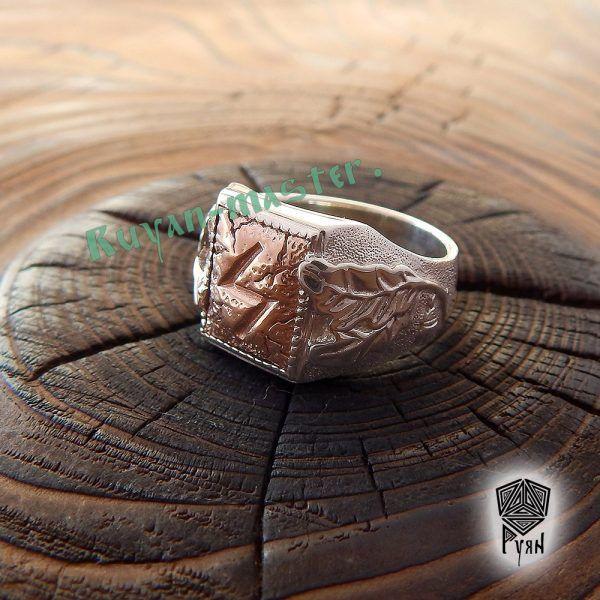 """Перстень """"Сила и Слава"""" с рунами Старшего Футарка. Золото фото 1"""