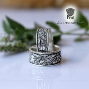 Обручальные кольца «Кельтские псы» фото 4