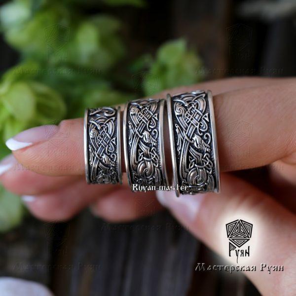 Обручальные кольца «Кельтские псы» фото 1