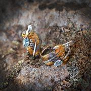 Серьги малые «Перо Жар-Птицы» фото 5