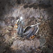Серьги малые «Перо Жар-Птицы» фото 6