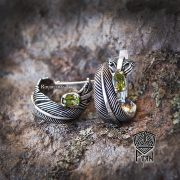 Серьги малые «Перо Жар-Птицы» фото 4