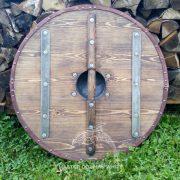 Боевой щит с Коловратом из массива дерева фото 3