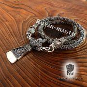 Серебряная цепь «Медведи кусачие» (плетение Викинг) фото 4